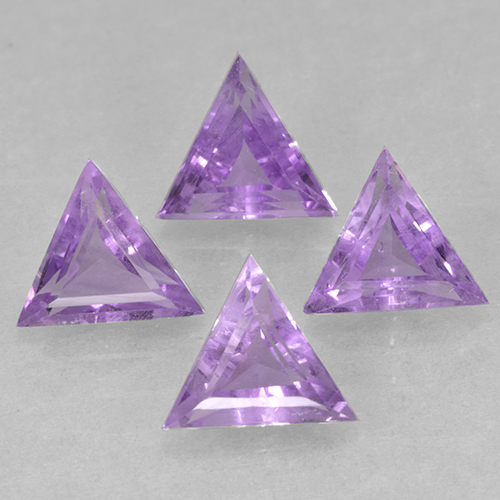 Medium Violet Amatista Gema - 0.5ct Forma trillón (ID: 502160)