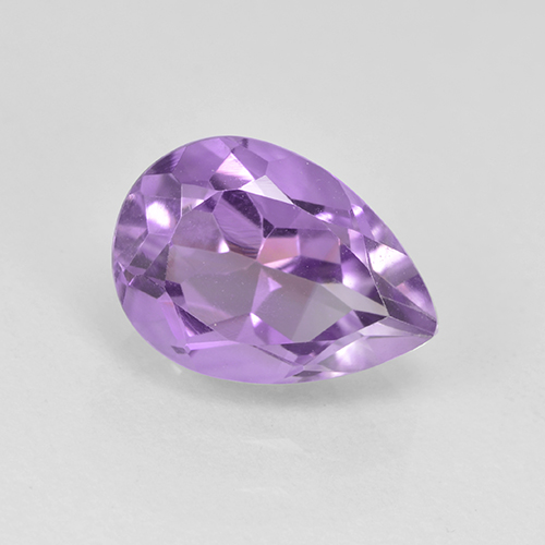Medium Violet Amethyst Gem - 2ct Pear Facet (ID: 503105)