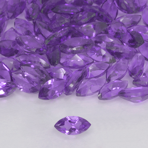 0.15 ct Marquiseschliff Medium Violet Amethyst Edelstein 4.82 mm x 2.4 mm (Photo A)
