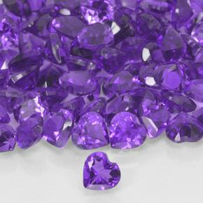Violet Amethyst Gem - 0.2ct Heart Facet (ID: 503905)