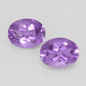 Violet Amethyst Gem - 1.7ct Oval Facet (ID: 503941)
