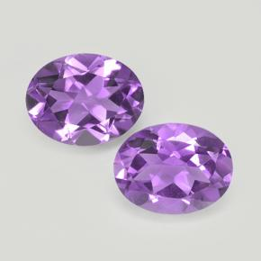 Purplish Violet Amethyst Gem - 1.6ct Oval Facet (ID: 503947)