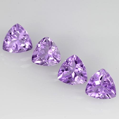 0.7ct Trillion Facet Violet Amethyst Gem (ID: 504767)