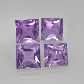 Violet Amethyst Gem - 0.9ct Princess-Cut (ID: 504772)