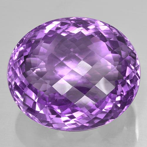 Violetto rosato Ametista Gem - 53.8ct Ovale checkerboard (ID: 505952)