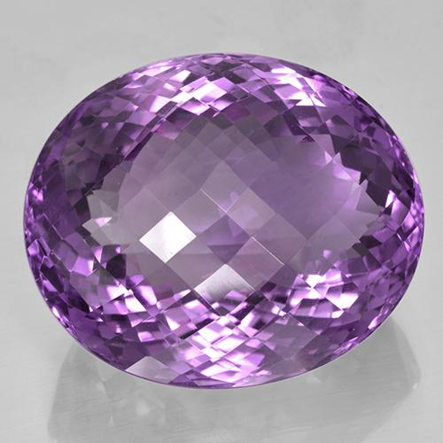 Violet Amethyst Gem - 55.5ct Oval Checkerboard (ID: 505953)