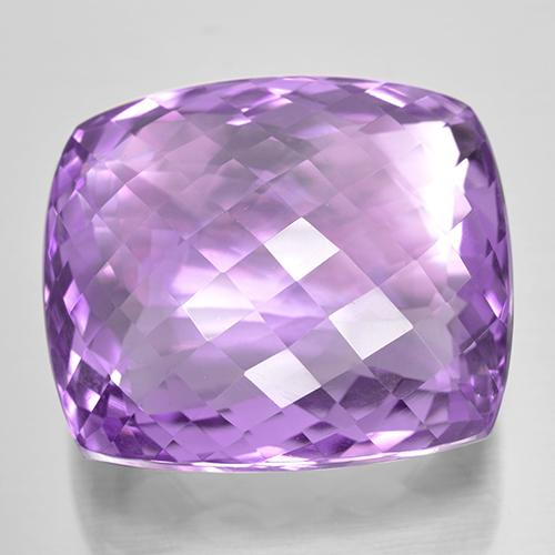 Medium Pinkish Violet Ametista Gem - 47.9ct Checkerboard a cuscino (ID: 505955)