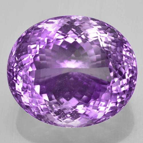Purplish Violet Amethyst Gem - 71.6ct Oval Portuguese-Cut (ID: 505959)