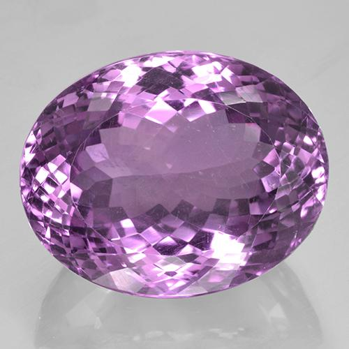 53.03 ct Ovale taglio portoghese Medium Violet Ametista Gem 25.71 mm x 20.4 mm (Photo A)