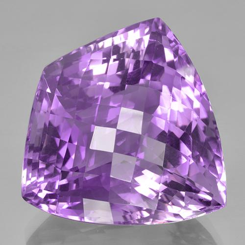 Medium-Dark Violet Amethyst Gem - 47.3ct Shield Checkboard (ID: 505997)