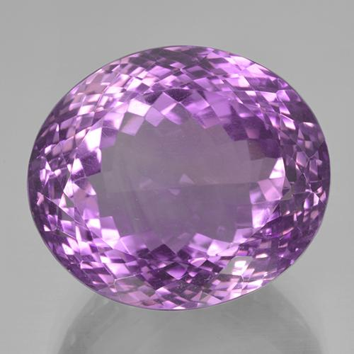 47.9ct Oval Portuguese-Cut Purplish Violet Amethyst Gem (ID: 506053)