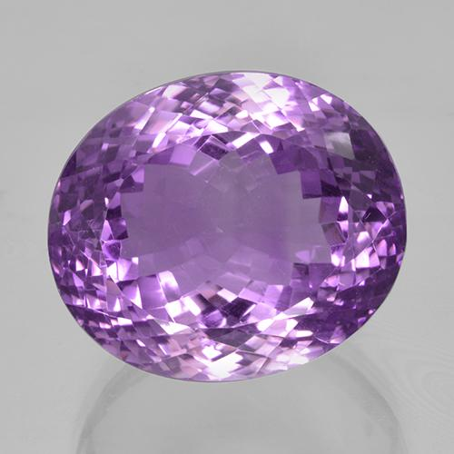 44.50 ct Oval Portuguese-Cut Purplish Violet Amethyst Gemstone 21.47 mm x 18.3 mm (Product ID: 506054)