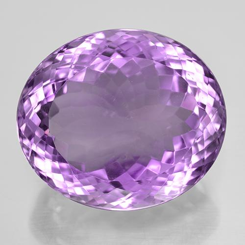 39.12 ct Овальная Португальская Огранка Medium Purplish Violet Аметист Камень 23.37 mm x 20.2 mm (Photo A)