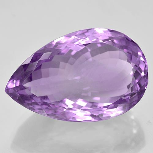 46.33 ct Pear Facet Purplish Violet Amethyst Gemstone 28.49 mm x 18.2 mm (Product ID: 506061)