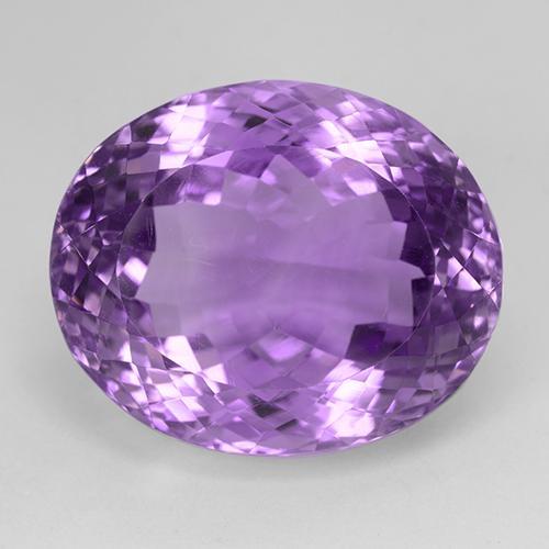 35.42 ct Ovale taglio portoghese Medium Purplish Violet Ametista Pietra preziosa 21.58 mm x 17.8 mm (Product ID: 509094)