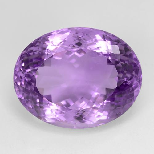 31.2ct Ovale taglio portoghese Medium Purplish Violet Ametista Gem (ID: 509096)