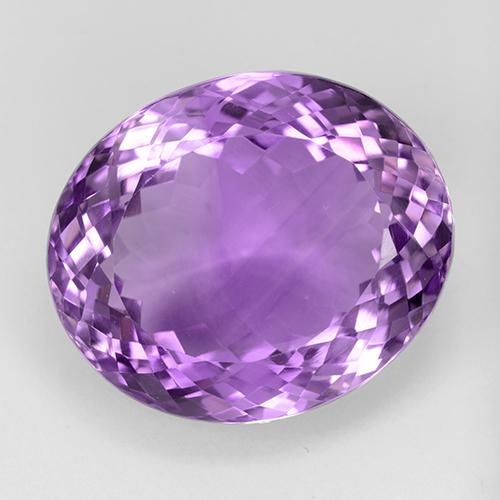 33.7ct Oval Portuguese-Cut Purplish Violet Amethyst Gem (ID: 509113)