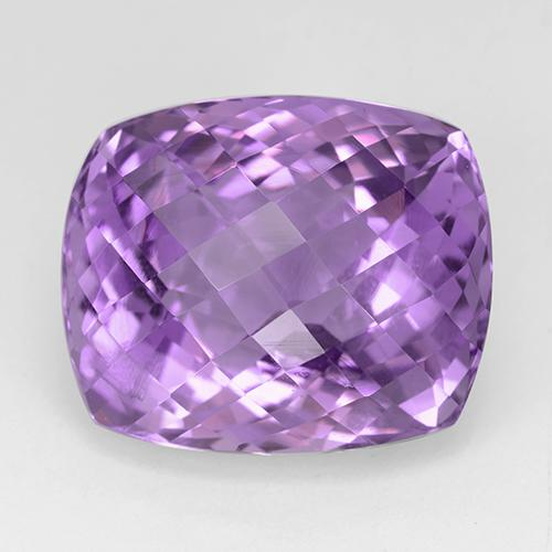 32.9ct Kissen Schachbrett Medium Purplish Violet Amethyst Edelstein (ID: 509120)