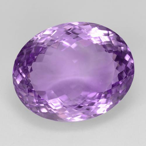 33.7ct Oval Portuguese-Cut Purplish Violet Amethyst Gem (ID: 509128)
