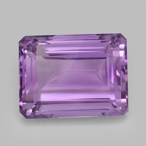 Violet Amethyst Gem - 30.6ct Octagon Step Cut (ID: 509140)