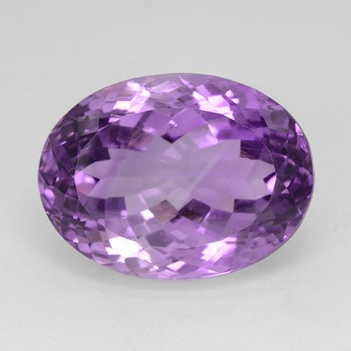 Medium Purplish Violet Amatista Gema - 26.3ct Forma ovalada (ID: 509150)