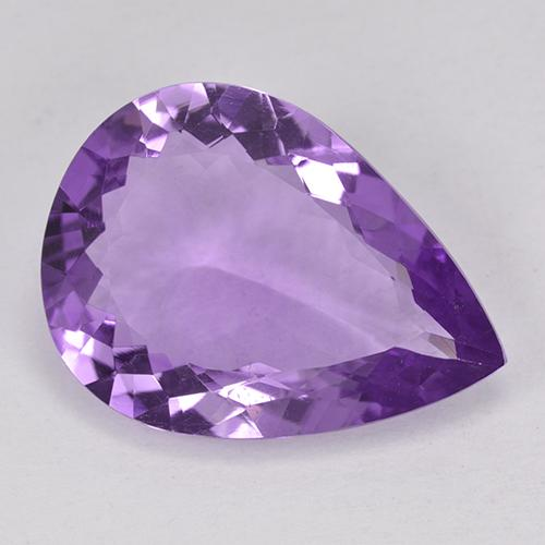 Violet Amethyst Gem - 11ct Pear Facet (ID: 514111)