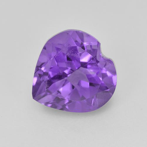 Violet Amethyst Gem - 1.8ct Heart Facet (ID: 514989)