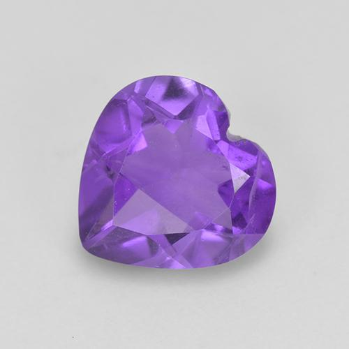Violet Amethyst Gem - 1.4ct Heart Facet (ID: 514990)