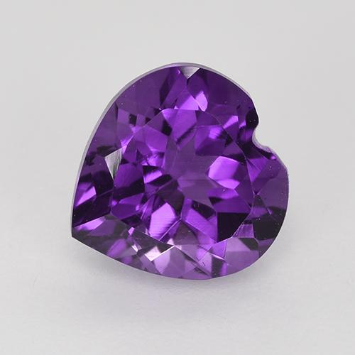 Violet Amethyst Gem - 1.8ct Heart Facet (ID: 515391)