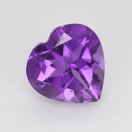 Violet Amethyst Gem - 1.5ct Heart Facet (ID: 515396)