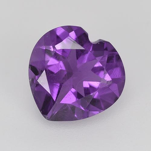 Violet Amethyst Gem - 1.4ct Heart Facet (ID: 515400)