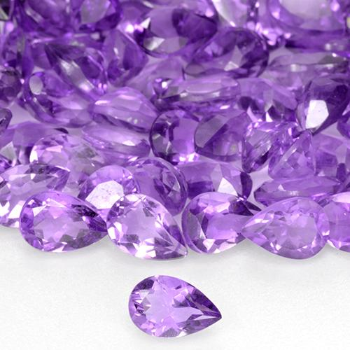 0.38 ct 梨形切面 Deep Purplish Violet 紫水晶 宝石 5.88 mm x 4 mm (Product ID: 515764)