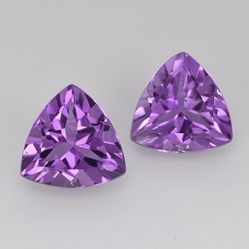 Violet Amethyst Gem - 1.6ct Trillion Facet (ID: 516124)
