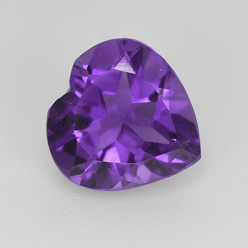 Violet Amethyst Gem - 1.5ct Heart Facet (ID: 517734)