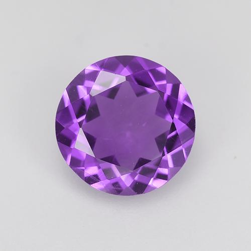 Intense Violet Amethyst Gem - 1.5ct Round Facet (ID: 517766)