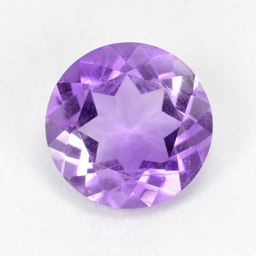 Medium Violet Amethyst Gem - 1.6ct Round Facet (ID: 517947)