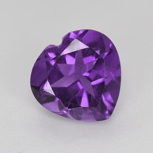 Violet Amethyst Gem - 1.5ct Heart Facet (ID: 518242)