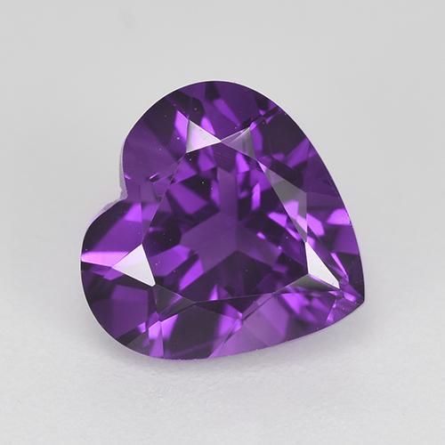 Violet Amethyst Gem - 1.8ct Heart Facet (ID: 518246)