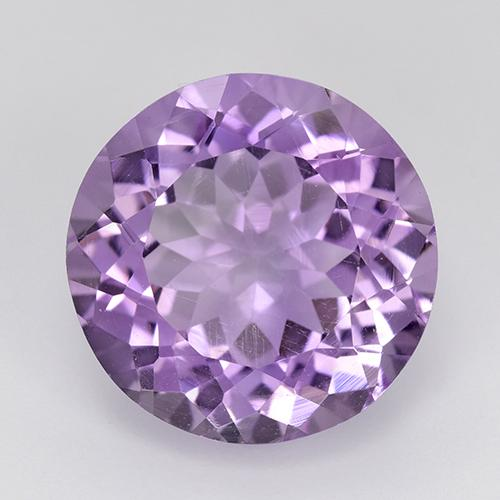 Medium Violet Pink Amethyst Gem - 9.5ct Round Facet (ID: 519785)