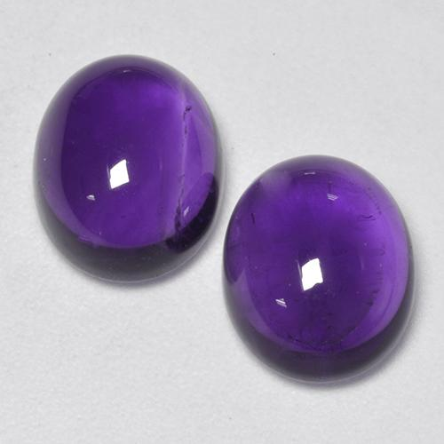 Medium-Light Violet Amethyst Gem - 2.8ct Oval Cabochon (ID: 520163)