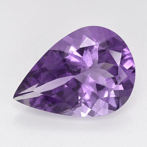Violet Amethyst Gem - 8ct Pear Facet (ID: 520289)