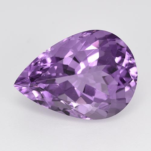 Violet Amethyst Gem - 11.1ct Pear Facet (ID: 520296)