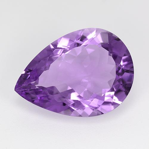 Violet Amethyst Gem - 8.5ct Pear Facet (ID: 520299)