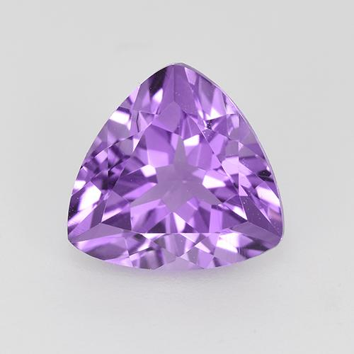 Vivid Violet Amethyst Gem - 1.7ct Trillion Facet (ID: 522845)