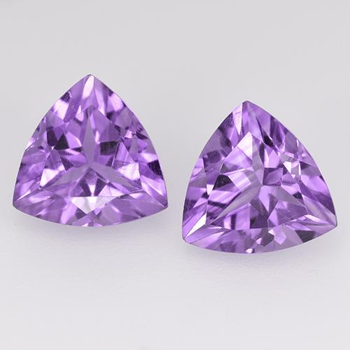 Violet Amethyst Gem - 1.6ct Trillion Facet (ID: 524119)
