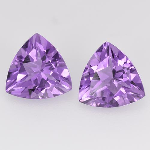Medium Violet Amatista Gema - 1.6ct Forma trillón (ID: 524121)