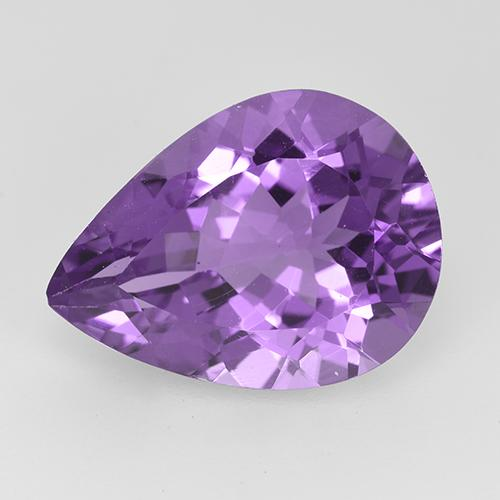 Medium Purplish Violet Amatista Gema - 6.9ct Corte en forma de pera (ID: 525943)