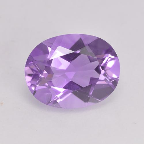 Pinkish Violet Amethyst Gem - 1.7ct Oval Facet (ID: 529456)