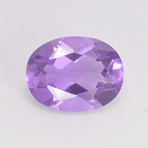 Medium Violet Amethyst Gem - 1.5ct Oval Facet (ID: 529457)