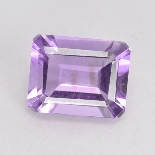 Light Pinkish Violet Amethyst Gem - 2.2ct Octagon Facet (ID: 532532)